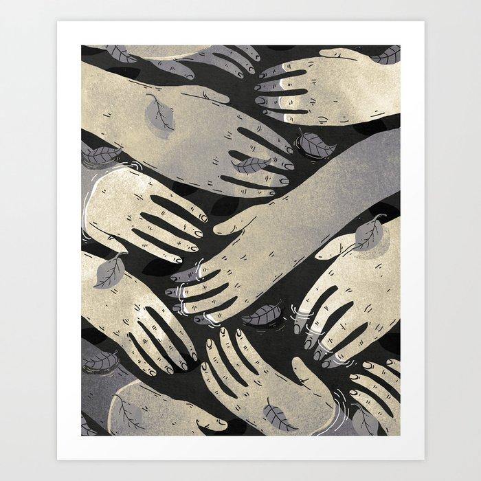 dark hands Art Print by franciscomffonseca