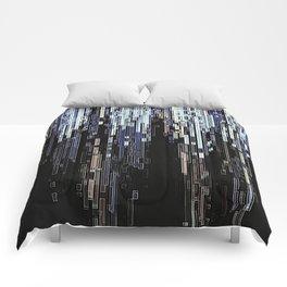 Ice Pixels Comforters