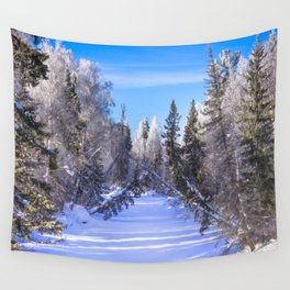 Frozen river Wall Tapestry
