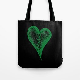 Green Heart Tote Bag