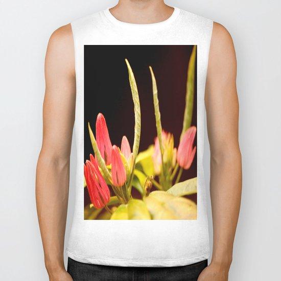 Exotic Colorful Flowers Biker Tank