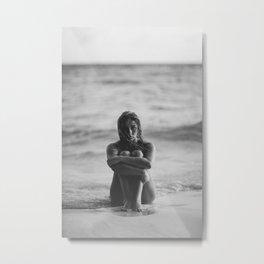 the girl on the beach Metal Print