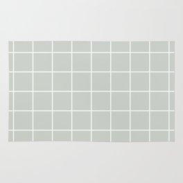 Gray Grey Grid Sea Salt Rug