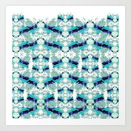 Hippopotamus Blue Art Print