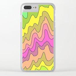 Ooo Ahh Melty Neon Rainbow Clear iPhone Case