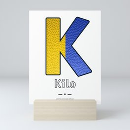 Kilo - Navy Code Mini Art Print