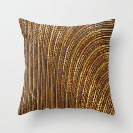 zara - art deco arc arch design in bronze copper gold Throw Pillow