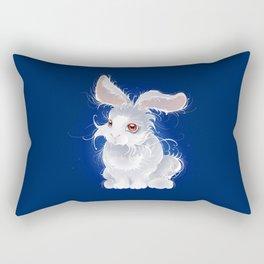 Magic white rabbit Rectangular Pillow