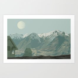 Montagnes Art Print