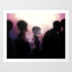 Anna Blue - Angel Art Print