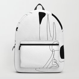 Lined pose Backpack
