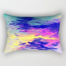 Neon Mimosa Inspired Painting Rectangular Pillow