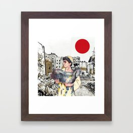 A Child With a Lamb in Aleppo Framed Art Print