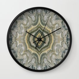 Lace Agate Wall Clock
