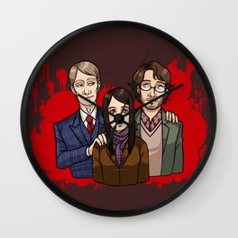Murder Family Wall Clock