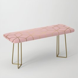 Pink and Gold Geometry 011 Bench
