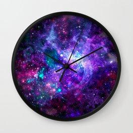 Purple Galaxy Wall Clock