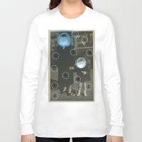 pills Long Sleeve T-shirts featuring Human Pills by Naomi Vona