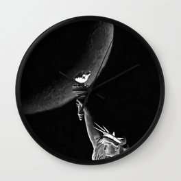 Hudson River Night Sailing  Wall Clock