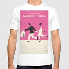 No785 My Paris When it Sizzles minimal movie poster MEDIUM White Mens Fitted Tee