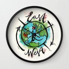 East & West Logo Wall Clock