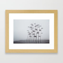 Mono Mist Framed Art Print