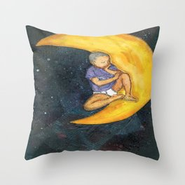 Son and the Moon Throw Pillow