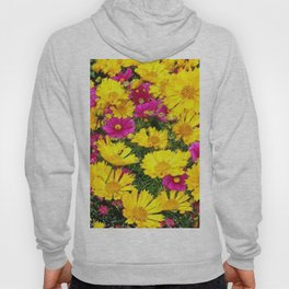 YELLOW COREOPSIS & FUCHSIA GARDEN FLOWERS Hoody