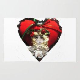 Christmas Heart Rug