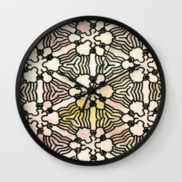Floral Circuitry Wall Clock