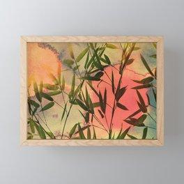 sunset bamboo Framed Mini Art Print