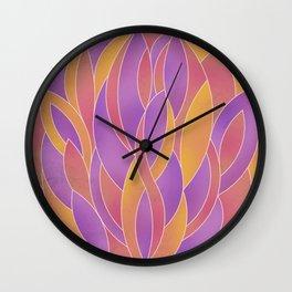 Petals - Mango Wall Clock
