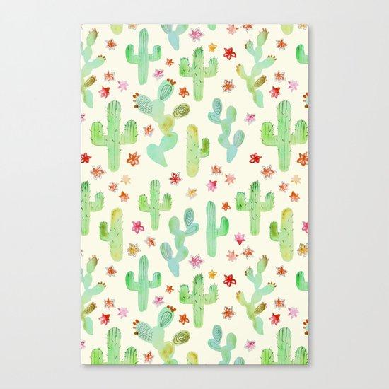 Watercolor Cacti Canvas Print