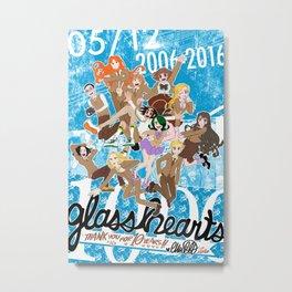 DEC(A)NNIVERSARY / GLASS HEARTS \ 2006-2016 Metal Print