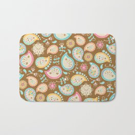 Hedgehog Paisley_Colors and Cocoa Bath Mat