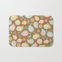 Hedgehog Paisley - Colors and Cocoa Bath Mat