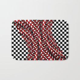 black white red 4 Bath Mat