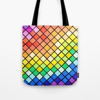 pantone Tote Bags featuring Geo-Pantone by Aries Art