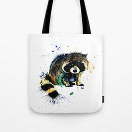 Raccoon - Splat Tote Bag