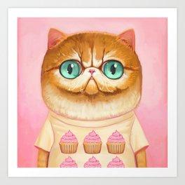 Cupcake Cat Art Print