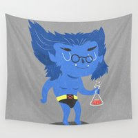 beast Wall Tapestries featuring Beast by Rod Perich