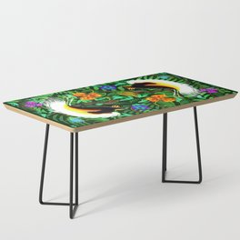 Paradise Bird Fire Feathers Coffee Table