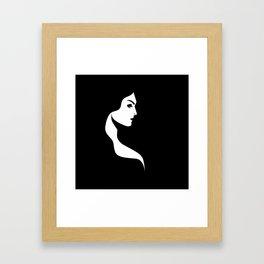 Profile Female Portrait Framed Art Print