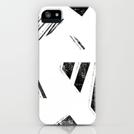 vintage triangle / black iPhone Case