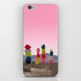 Seven Magic Mountains with Pink Sky - Las Vegas iPhone Skin