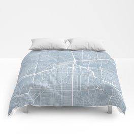 Fort Worth Map, USA - Slate Comforters