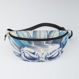 skull with surfboard Fanny Pack