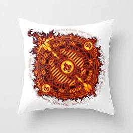 Ifrit Seal Throw Pillow