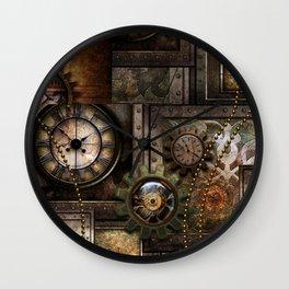 Steampunk, wonderful clockwork with gears Wall Clock