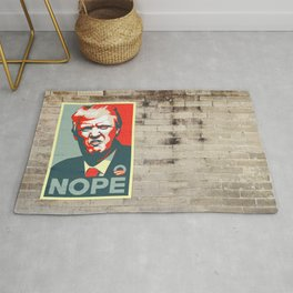 Donald Trump NOPE to build the Wall Rug